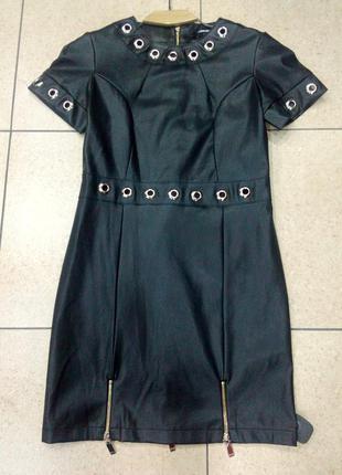 Платье-туника экокожа