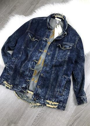 Итальянская удлиненная джинсовая куртка!