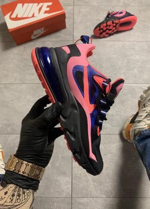 Кроссовки  nike air max 270 react black pink