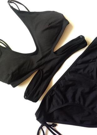 60а-в, 65а/аа h&m модный черный купальник топ на чашку 0-аа анти хлор
