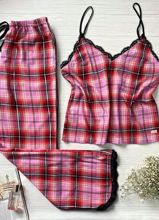 Фланелевая пижамка victoria's secret! размер - s 15301