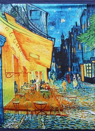 Весенний платок картина ван гога «ночное кафе в арле»