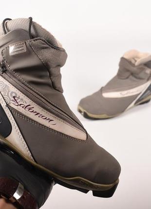 Salomom siam 9 pilot оригинал! женские ботинки для лыж серые размер 39