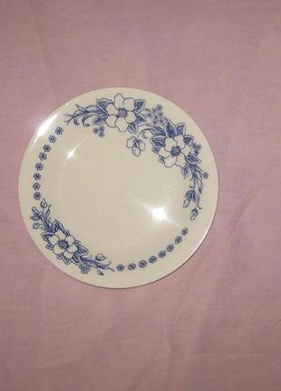 Набор красивых мелких тарелок для гарнира / десерта, керамика ссср