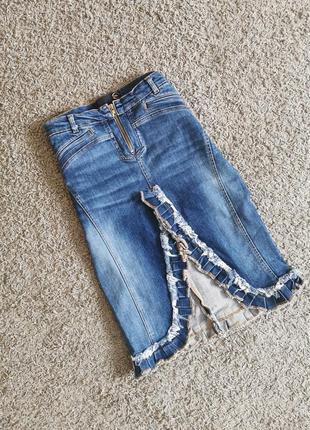 Cavalli джинсова спідниця юбка