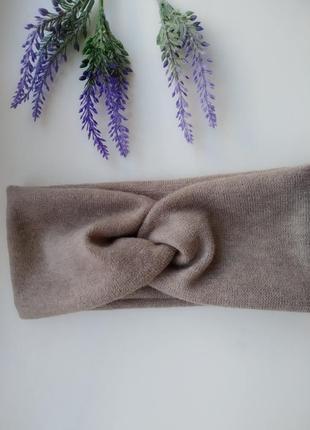 Чалма трикотаж ангоровая повязка на голову тюрбан аксессуары для волос