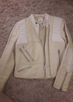Новая кожаная куртка 48р.