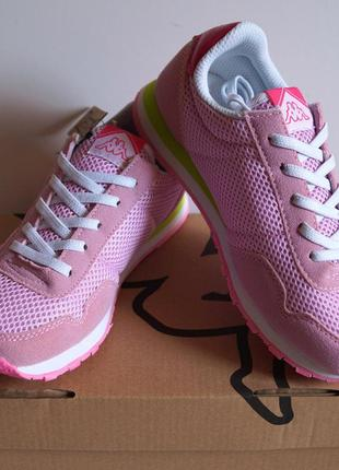 Детские кроссовки kappa - розовые
