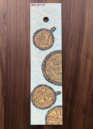Картина на дереве чашки кофе латте арт don.bacon