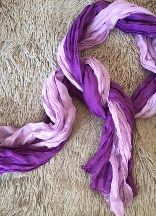 #розвантажуюсь легкий летний шарф шарфик шифон жатка фиолетовый сиреневый