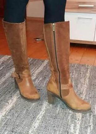 Шкіряні чоботи (демісезонні) lasocki весенние сапоги