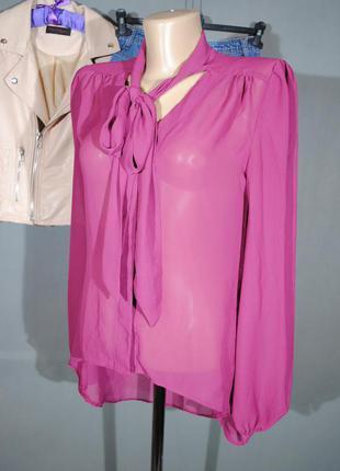 Шифоновая блузка бургунди atmosphere размер uk8 (s) рубашка бант воротник