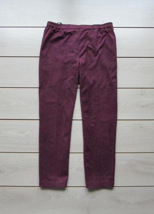 Бархатный брюки со стрелками на резинке большой размер