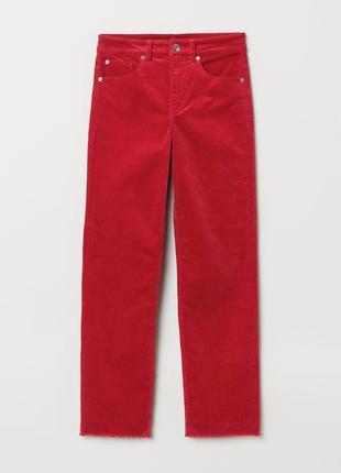 Крутые укороченные вельветовые брюки высокая посадка талия от divided