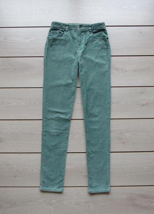 Вельветовые узкие брюки мятного цвета подростковые
