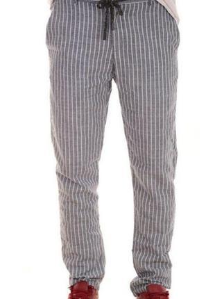 Мужские льняные брюки, италия размер 44-46 наш