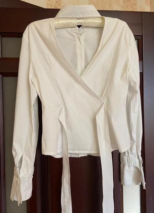 #розвантажуюсь,рубашка, белая рубашка, белая рубашка с открытой спиной2 фото
