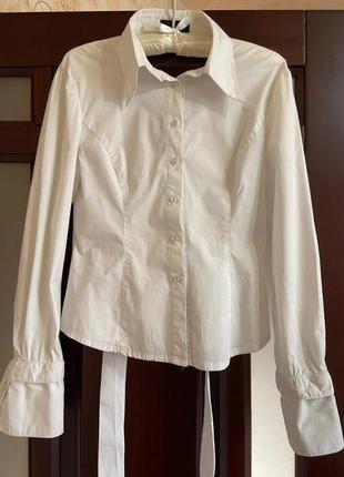 #розвантажуюсь,рубашка, белая рубашка, белая рубашка с открытой спиной4 фото