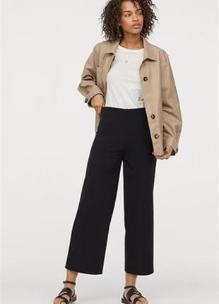 №160 укороченные свободные брюки кюлоты от marks & spencer
