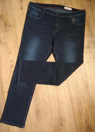 Батал! стильные и комфортные прямые джинсы от livergy, р. 64, см.замеры