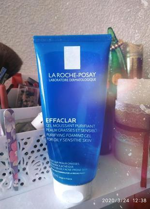 Очищающий гель-мусс для жирной и проблемной кожи la roche-posay effaclar gel