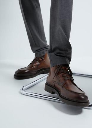 Кожаные ботинки zara, размер 43
