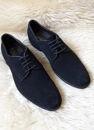 Замшевые туфли броги borelli 42 размер англия!