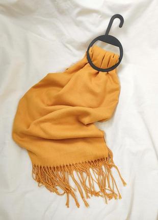 Шарф платок горчичного цвета
