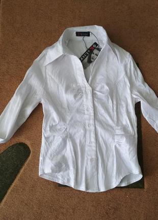 Белая блузка рубашка блуза в школу біла недорого