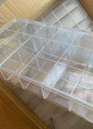Органайзер для хранения фурнитуры, бижутерии и мелких деталей, прозрачная
