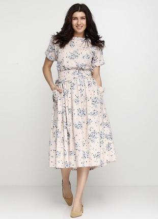 Happy dress платье лён m-l