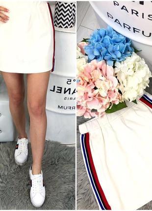 Юбка юбочка короткая белая