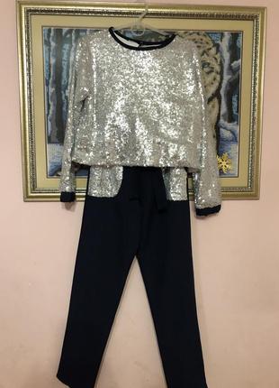 Нарядні стильні костюми. брюки з кофточкою-блузою якість супер.