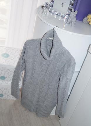 Теплый свитер-туника