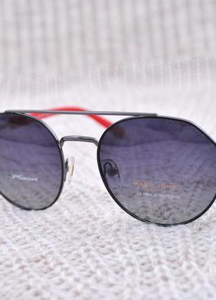 Фирменные солнцезащитные круглые очки marc john polarized