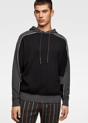 Мужской свитер кофта с капюшоном