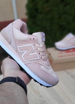 Кроссовки женские new balance 574, розовые, нью баланс, беланс, кросівки3 фото