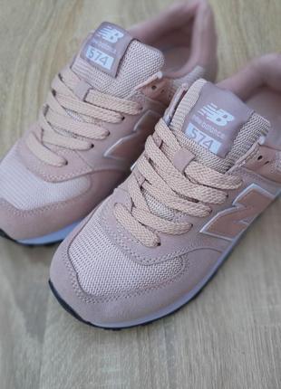 Кроссовки женские new balance 574, розовые, нью баланс, беланс, кросівки7 фото