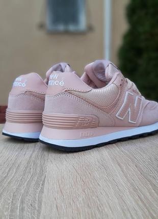 Кроссовки женские new balance 574, розовые, нью баланс, беланс, кросівки8 фото
