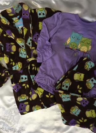 Пижама и халат для девочки