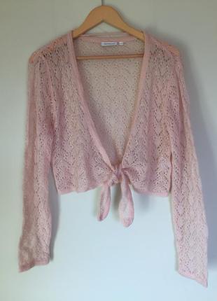 Красивый бежевый кардиган/болеро размер l, yessica свитер