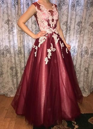 Платье brain bordo/вечернее,выпускное
