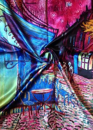 Платок картина ван гога «ночное кафе в арле» акция! цена снижена!