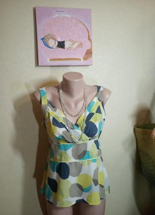 Яркая блуза из натурального шелка