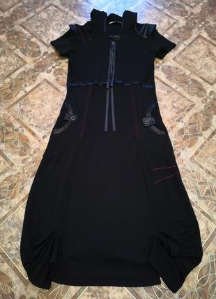 Платье с капюшоном, размер 50