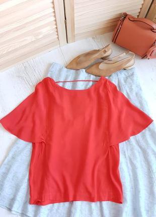 Красная блуза,ткань вискоза.