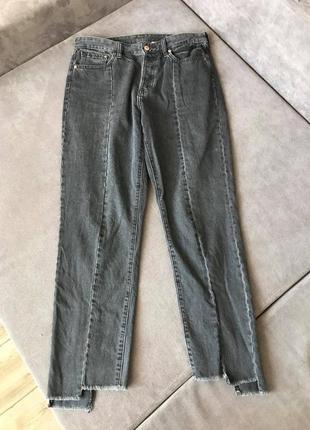 Vintage straight by h&m самые актуальные джинсы шов спереди высокая посадка zara cos