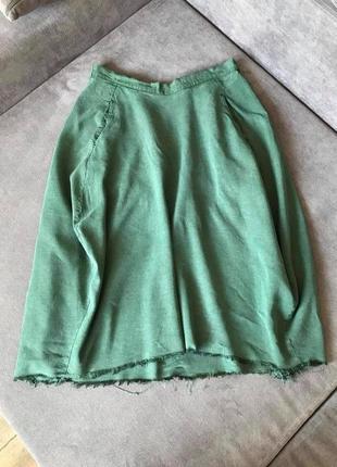 Hanoh wessel шелк хлопок!!!уникальная юбка редкий бренд на нашем рынке