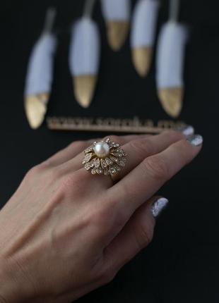 Шикарное кольцо хризантема