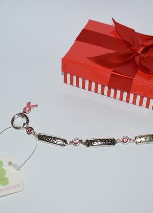 Новый браслет bella of cape cal toggle breast cancer charm металл посеребрение винтаж
